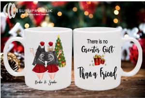 Christmas Best Friends / Sister / Mum Personalised Mug - Two Person