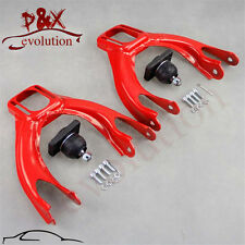 Red Front Upper Control Arm w/Adjustable Camber Kit for 92-95 Honda Civic EG EJ