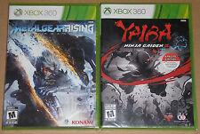 XBox 360 Game Lot - YAIBA Ninja Gaiden Z NEW Metal Gear Rising Revengeance NEW