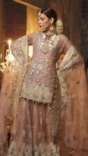 Pakistani Indian Inspired BRIDAL Net Embroidered salwar kameez Only Fabric