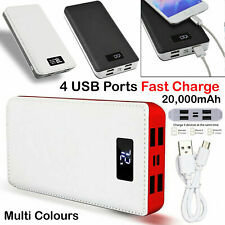 4 USB 2000000mAh Power Bank Cargador de paquete de batería de respaldo Led Lcd Para Teléfono Móvil