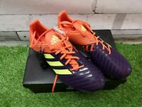 Adidas Performance Men's Malice Control SG Rugby Boots UK Size 10 Yellow Orange