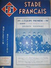 revue Stade Francais - BASKET année 1959 ( ref 18 )