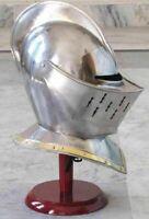European Closed Helmet - Medieval Knight Armor Helmet free helmet stand