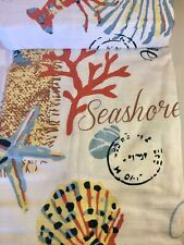 PANAMA JACK SIGNATURE COLLECTION BEACH ESCAPE FABRIC SHOWER CURTAIN LOBSTER COVE