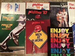 Philadelphia Phillies---1985 -1991 Season Ticket  brochures + Poster---22x34
