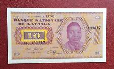 Katanga - Congo Belge - Belgique - Magnifique billet de 10 Francs du 1-12-1960