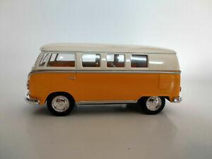 VW Bus Combi Volkswagen 1962 jaune et beige 13cm neuf metal