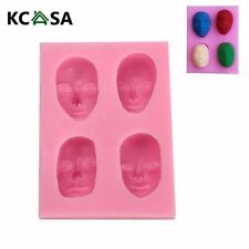 KCASA Men's Face Silicone Fandant Mold Chocolate Polymer Clay Mould