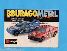 TOP990-PUBBLICITA'/ADVERTISING-1990- BURAGO - PEUGEOT 405 RAID+BMW 535i 1/43