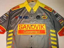 New Large DSR NHRA Drag Racing Pit Crew Shirt MATT HAGAN SCHUMACHER Sandvik New