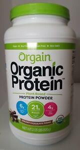 Orgain Organic Protein Powder Creamy Chocolate Fudge 2.03 lb Exp 10/21 Vegan