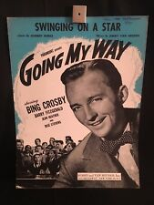 1944 Going My Way Movie Piano Sheet Music Book Swinging On A Star (Poster)