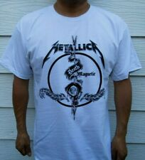METALLICA DEATH MAGNETIC  ROCK BAND WHITE T-SHIRT