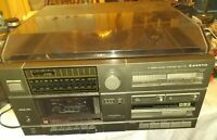 Sanyo Stereo Music System GXT110 Turntable/ Stereo AM/FM Cassette Deck TESTED