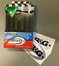 R+G Motorcycle Heated Grips & 1 Pair Of FREE Large Stickers (silver)