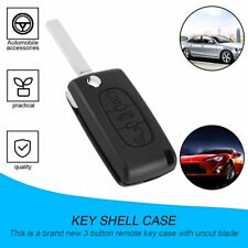 3 Button Car Key Folded Case Shell Uncut Blade for Peugeot 207 307 407 308 NC