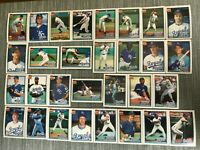 1991 KANSAS CITY ROYALS Topps COMPLETE Baseball Team SET 30 Cards BRETTx2 WILSON