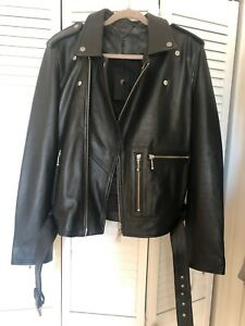 Muubaa Mens Biker Leather Jacket