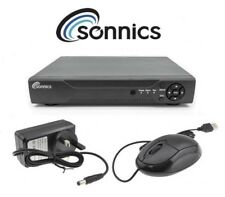 Sonnics 500GB 4 Channel CCTV DVR Recorder H.264 5in1 up to 1080P HD VGA HDMI BNC