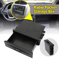 Universal Car Single Din Dash Radio Pocket Storage Box Tray Installation Kit