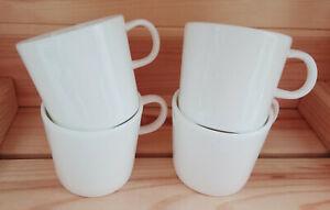 Set of Four, Bone China, Ikea, Delicate, Espresso Mugs - Used VGC