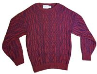 VTG MCGREGOR Acrylic Sweater Men's Size M USA MADE Red/Blue Unique Design