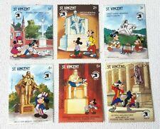 Lot 6 Vintage Walt Disney World Stamp Expo - St.Vincent - MNH 1989