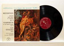 EMIL GILELS, SANDERLING - BEETHOVEN piano concerto no.5 CHANT DU MONDE LP EX+
