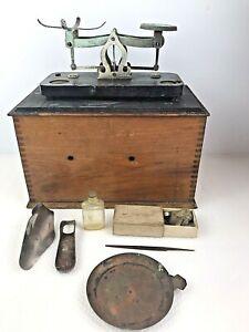Antique Kodak Traveling Counter Balance SCALE 1907 FILM TANK Wood Box w Weights