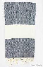AUCTION - LARGE TURKISH PESHTEMAL 100% COTTON BATH TOWEL BEACH SPA