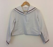 Authentic Japanese schoolgirl uniform top, imported from Japan, used, S (Q1080)