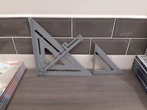 """Set Of 2 Roofing Squares 12"""" x 12"""" and 7"""" x 7"""""""