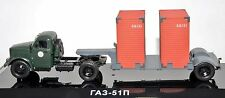 1/43 DIP MODELS 905103 russian truck GAZ 51P green w T213 trailer USSR CCCP NIB