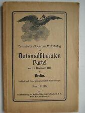 Nationalliberale Partei Liberalismus Berlin 1911 Stresemann Amecke Apelius Bea
