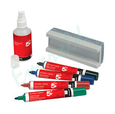 Drywipe Whiteboard Starter Kit With Eraser, Pens & Cleaner - Same Day Dispatch