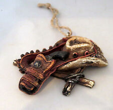 Western Cowboy Hat Revolver Holster Christmas Ornament New Wild West Ammo Belt