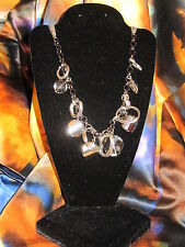 SIMPLY VERA WANG NWT $34 silver oval circles women's necklace