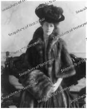 Vintage photo-Woman wearing furs & feather hat-8x10 in.