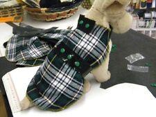 manteau chien ecossais tartan creation toutou dos 30/35cm