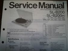 TECHNICS SL-B200 SL-B200K Turntable Service manual wiring parts diagram