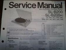 TECHNICS SL-B200 SL-B200K giradischi Servizio Manuale diagramma di cablaggio parti