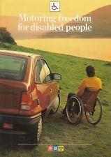 Vauxhall Disabled Driver 1986-87 UK Market Brochure Nova Astra Belmont Cavalier
