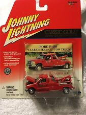 Johnny Lightning Classic Gold Ford F 450 Clark's Service Tow Truck