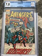 AVENGERS #82 CGC 7.0 OW/W PG 1970 MARVEL DAREDEVIL, ARIES APPEARANCE MCU DISNEY+