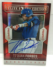 Ti'Quan Forbes 2014 Elite Extra Edition EEE Prospect RC on-card Auto #'d 200/499