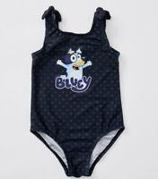 1 x Girls size 6 Genuine BLUEY Navy blue one piece bathers Swimwear  NEW
