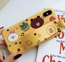 Bear Iphone X Phone Case yellow Purple Kawaii Cute