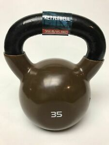 SPRI 35 lbs Kettlebell - Weighted Ball With Handle- Bronze - Medicine Ball- New