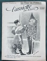 L'Assiette au Beurre #25 French Satire Art 1901 Magazine- The Czar in France